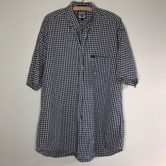 Faconnable Other - Men's blue gingham short sleeve dress shirt XL